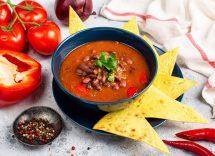 Zuppa di fagioli messicana