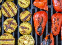 insalata verdure grigliate uova sode
