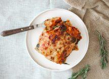 Lasagne con formaggio e pancetta
