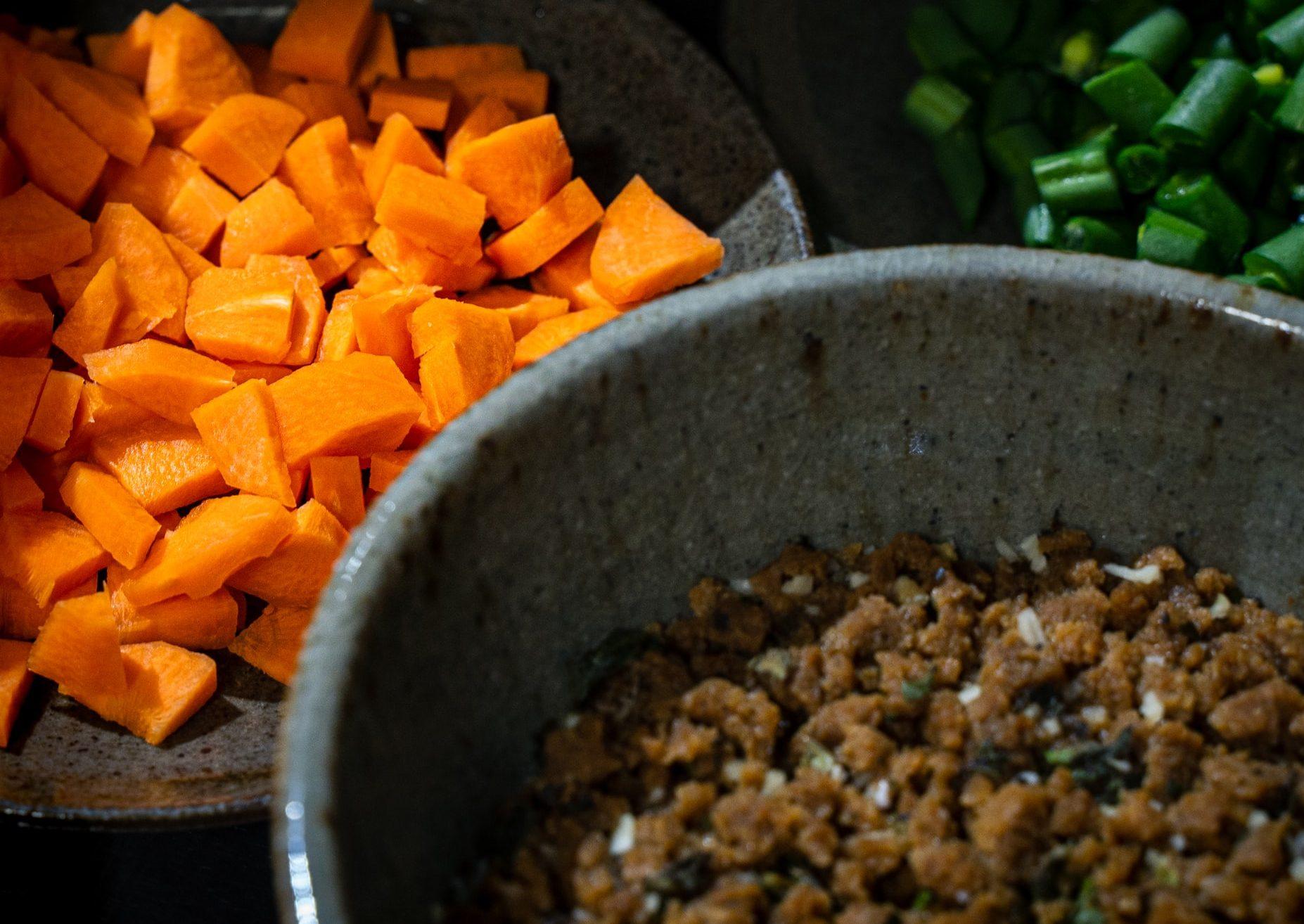 Lenticchie e patate dolci al curry