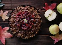 torta vegana cioccolato fondente e mele