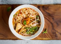 Zuppa di spaghetti udon