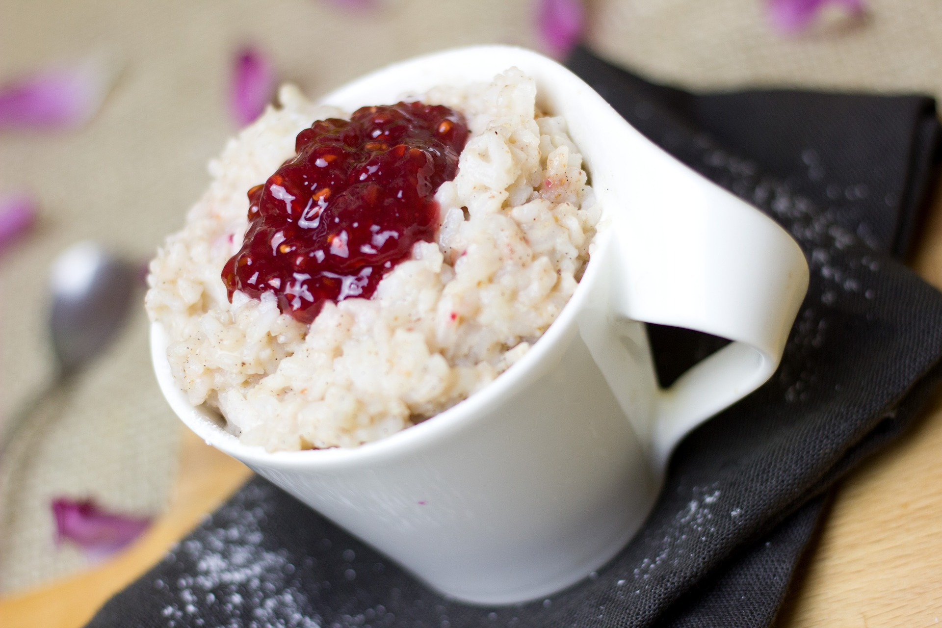 budino di riso latte mandorle