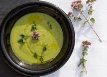crema di zucchine porri e ceci