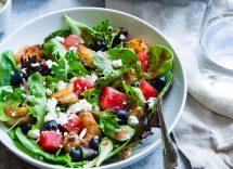 insalata anguria olive e quartirolo