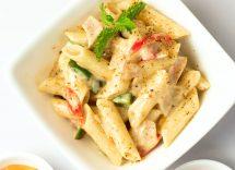 pasta con peperoni zucchine