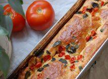 plumcake salato zucchine olive e pomodori
