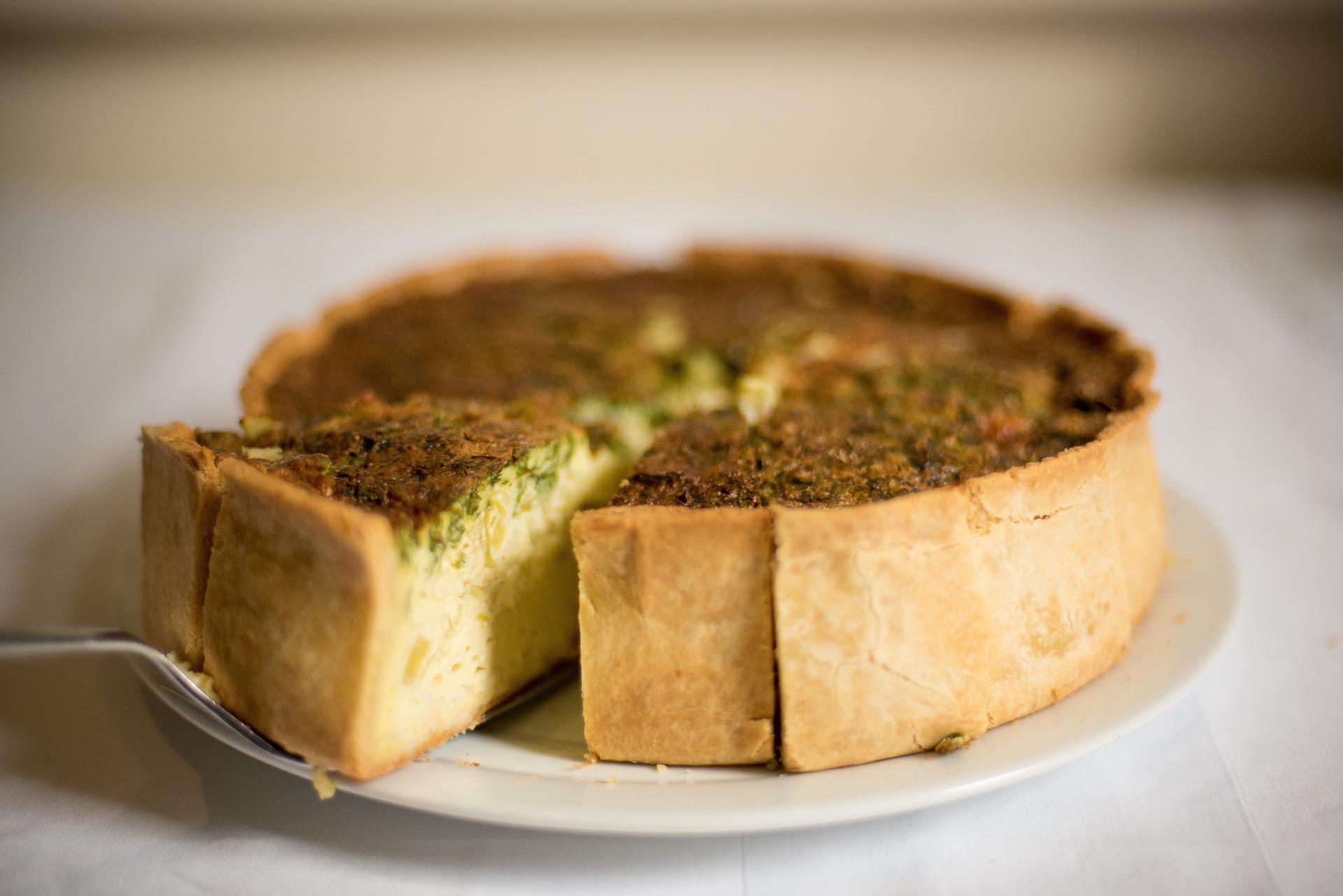 torta salata baccalà patate e piselli