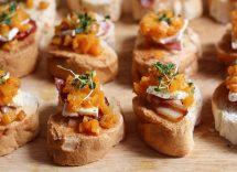crostoni con zucca e gorgonzola