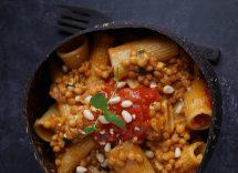 pasta ragù lenticchie olive