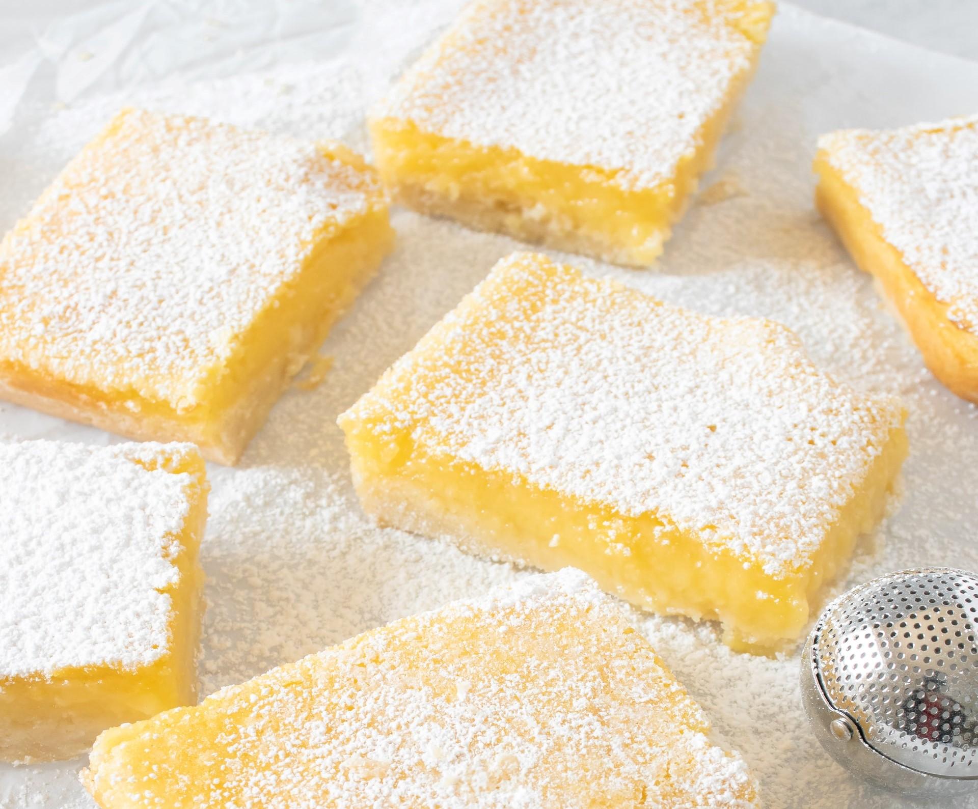 quadrotti di ricotta limone