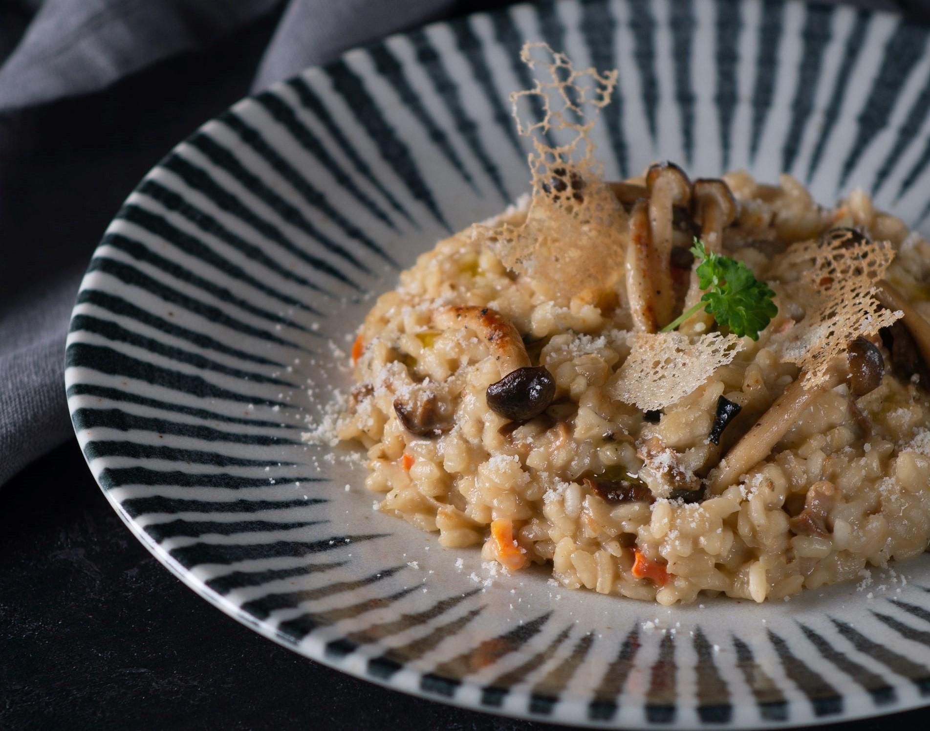 risotto zucca funghi salsiccia