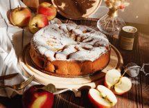 torta budino alle mele
